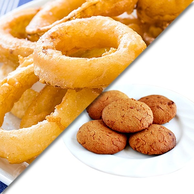 potato wedges and coconut cookies_1